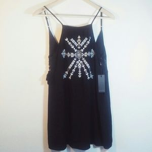 Forever 21 mini dress tribal print spaghetti strap